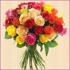 Букет из 35 красивых роз