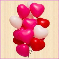 Большая любовь гелиевых сердец